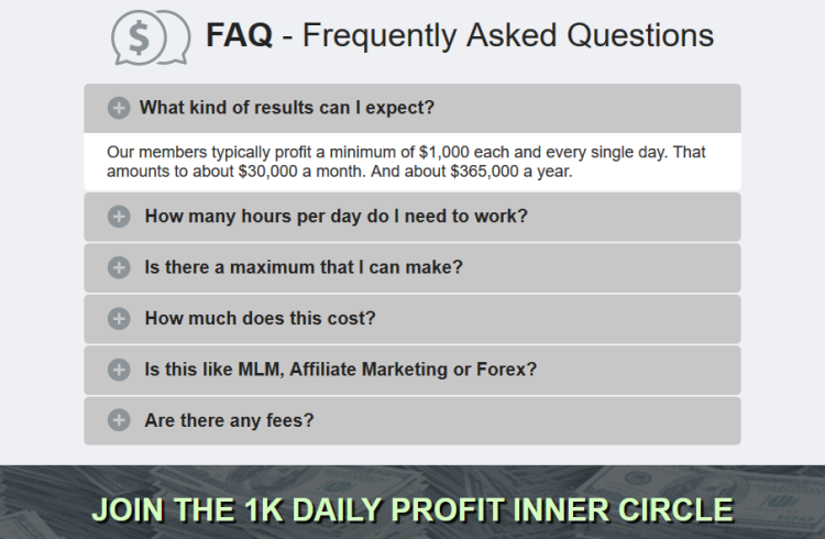 1K Daily Profit Frequently Asked Questions